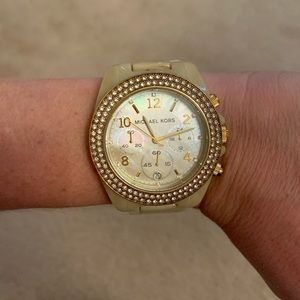 Michael Kors mother of pearl watch